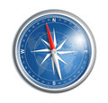 Blue compass with world map Royalty Free Stock Photo