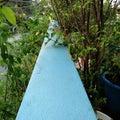 Blue concrete bar