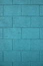 Blue concrete solid brick wall background of Stock Photo