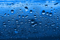 Blue Condensation Water Drops Royalty Free Stock Photo