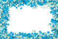 Blue confetti frame Royalty Free Stock Photo