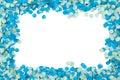 Blue confetti frame Royalty Free Stock Photo