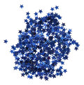The blue confetti stars isolated on white Stock Image