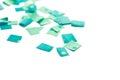 Blue confetti Royalty Free Stock Photo