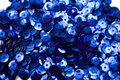 Blue confettis Stock Photos