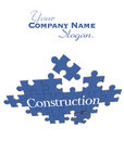 Blue Construction puzzle Royalty Free Stock Photo