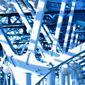 Blue constructions Royalty Free Stock Photos