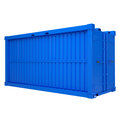 Blue container isolated render on a white background Stock Image