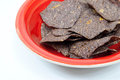 Blue Corn Tortilla Chips Royalty Free Stock Photography