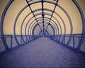 Blue corridor Royalty Free Stock Photo
