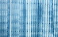 Blue corrugated metal background abstract of on warehouse building Royalty Free Stock Images