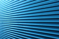 Blue corrugated wall Stock Images