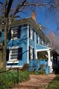 Blue Cottage Stock Photography