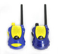 Blue couple walky talky isolated Royalty Free Stock Photo