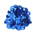 Blue craft sequins Royalty Free Stock Photos