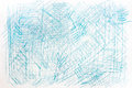 Blue  crayon drawings on paper background texture Royalty Free Stock Photo
