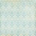 Blue And Cream Damask Vintage ...