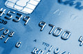 Blue credit card Stock Photography