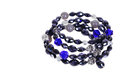 Blue crystal bracelet Royalty Free Stock Photo