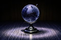 Blue crystal globe Royalty Free Stock Photo