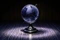 Blue crystal globe Royalty Free Stock Photo