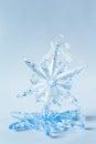 Blue Crystal Snowflake Decoration