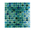 Blue crystal wall tile Stock Photo