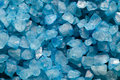 Blue crystals crystal salt nature background Royalty Free Stock Photo