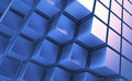 Blue cubes abstract background with Royalty Free Stock Photo
