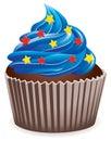Blue cupcake Royalty Free Stock Photo