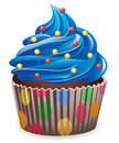 Blue cupcake Royalty Free Stock Photo