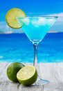 Blue Curacao cocktail Royalty Free Stock Photos