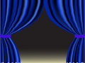 Blue curtain Stock Photos