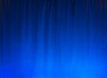 Blue curtain background nice lighted great for a Royalty Free Stock Images
