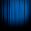 Blue curtain or drapes Royalty Free Stock Photo