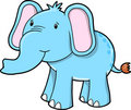 Blue Cute Elephant Vector Royalty Free Stock Photo