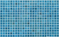 Blue or cyan tile wall Stock Photography