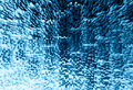 Blue 3d extruded blocks city illustration background