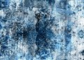 Blue damaged wall Royalty Free Stock Images