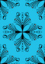 Blue damask Stock Photography