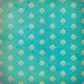 Blue damask grunge wallpaper Royalty Free Stock Image