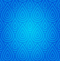 Blue Damask Seamless Pattern Stock Image
