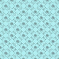 Blue damask seamless wallpaper Royalty Free Stock Photography