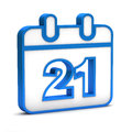 Blue date icon on a white background Royalty Free Stock Photo