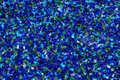 Blue decorative glass background of shiny pieces of Stock Image