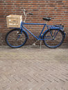 Blue delivery bike Royalty Free Stock Photo