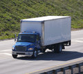 Blue Delivery Truck Royalty Free Stock Photos