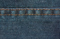 Blue denim jeans texture with seam, background Royalty Free Stock Photo