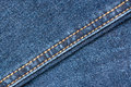 Blue Denim Jeans Texture With Seams Royalty Free Stock Photo