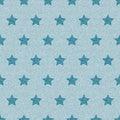 Blue denim starry jeans seamless pattern